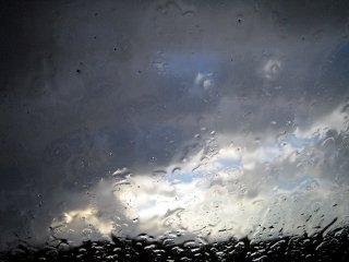 Rain from window