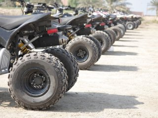 ATV At Starting Line
