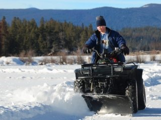 Snowplow ATV