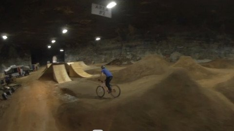 Red Bull Team Shreds Underground Bike Park