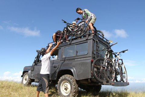 mountain bikes on truck