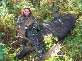 Vermont Woman Takes Record Bull Moose with Compound Bow
