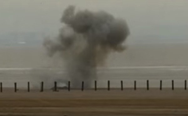 British Angler Snags Line on Wartime Bomb