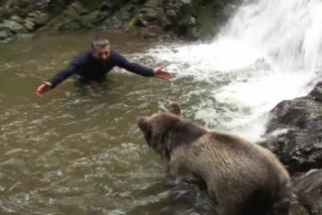 Watch This Guy Hug and Kiss a Wild Bear
