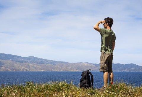 hiker gazing