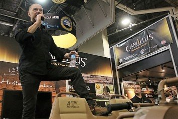 Les Stroud Talks Survivorman with Camillus Knives at SHOT Show