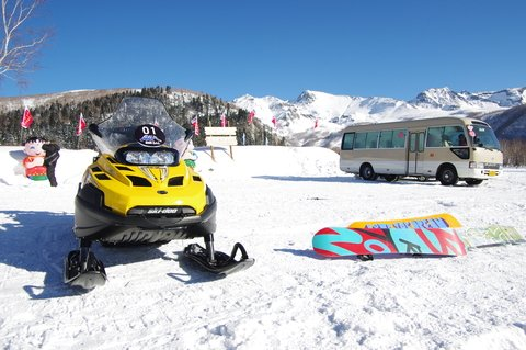 snowmobile and boards