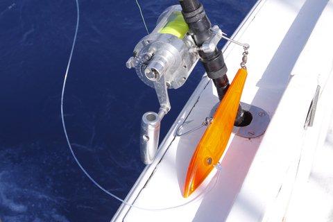fishing lure orange