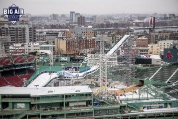 Fenway Park Transformed For Big Air Competition