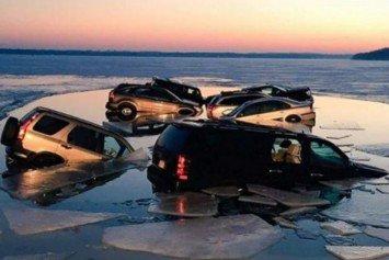 15 Cars Fall Through Ice at Lake Geneva 'Winterfest'