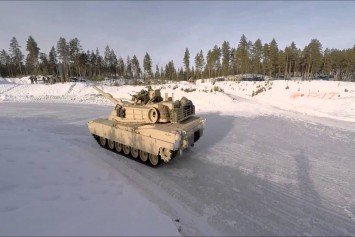 Watch This Abrams Tank Drift Race on Ice