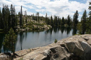 Hiking Loch Leven Lakes Trail near Tahoe