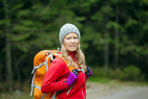 backpacker woman