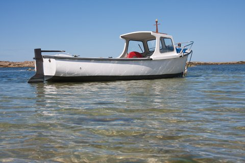 boat in shallows