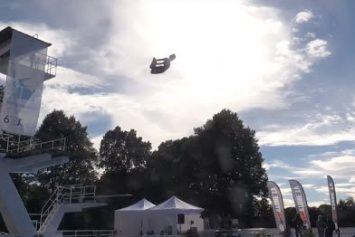 Watch Highlights From Belly Flop Olympics in Norway