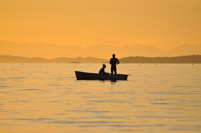 fishing-at-sunset