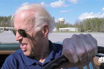 Vice President Biden Peels Out with Jay Leno