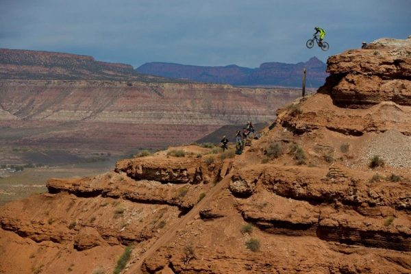 Kurt Sorge rides his line during Red Bull Rampage in Virgin, UT, USA on 14 October, 2016.