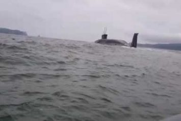 Russian Nuclear Submarine Scares the Crap out of Two Fishermen