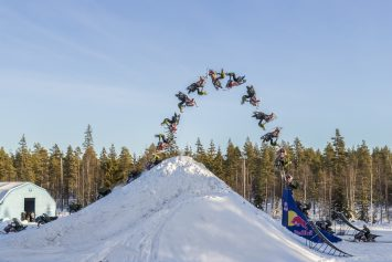 Watch Snowmobiler Pull First Ever Double Back Flip
