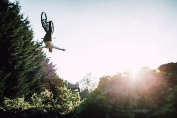 Watch Mountain Biker Throw Sick Tricks Through Forest in Britain