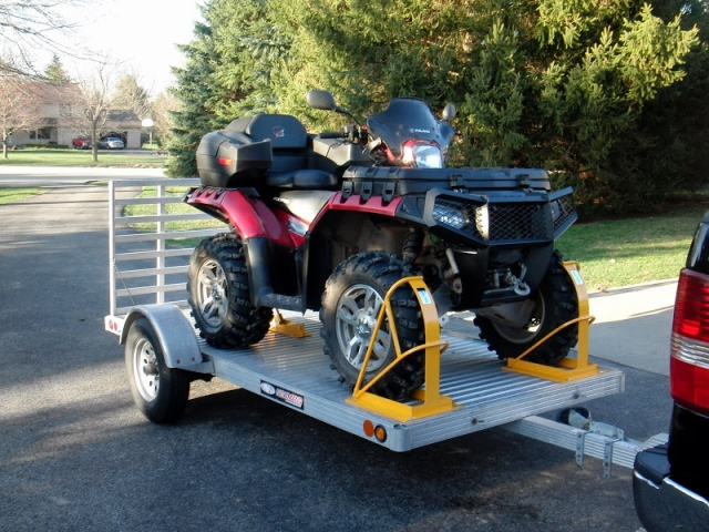 How To Secure Your Atv On A Trailer Liveoutdoors