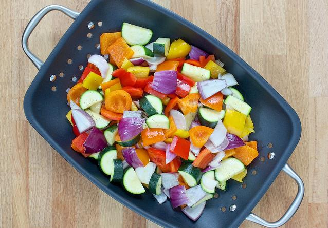 Veggie grill basket
