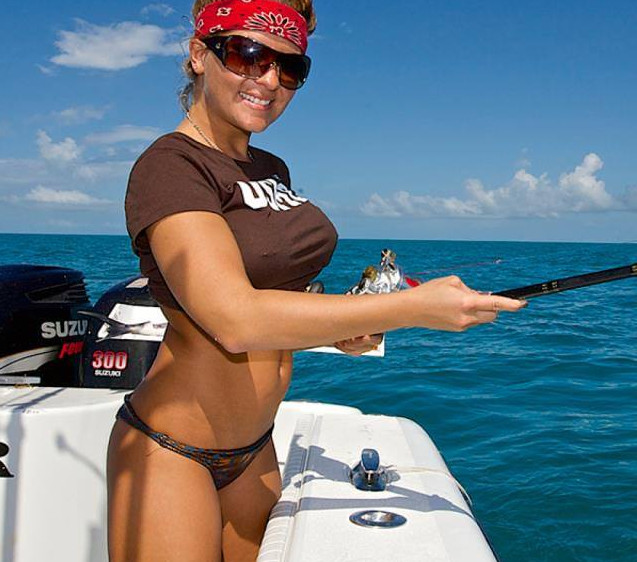 hot babes fishing