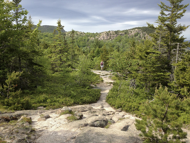 Gorham Mountain Trail in Acadia National Park, Maine